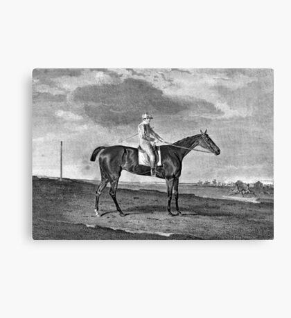 Race Horse Vintage Art Canvas Print