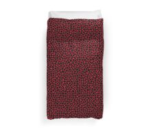 Cell Pattern Red Pillow Duvet Cover