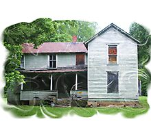 old abandoned home Photographic Print