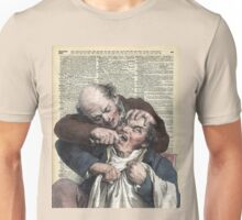 Dentist pulling teeth over old dictionary page Unisex T-Shirt