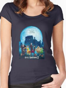 the monsters are back hotel transylvania 2 Women's Fitted Scoop T-Shirt