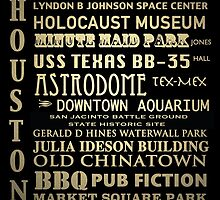 Houston Texas Famous Landmarks by Patricia Lintner