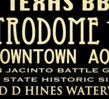 Houston Texas Famous Landmarks Sticker
