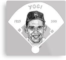 Yogi Berra Baseball Star 1925-2015 Metal Print