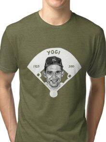 Yogi Berra Baseball Star 1925-2015 Tri-blend T-Shirt