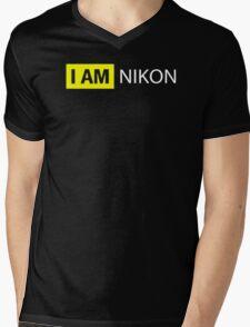 I AM NIKON Mens V-Neck T-Shirt