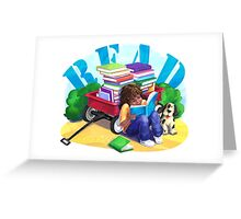 Book Wagon Greeting Card