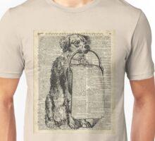 Dog with a Picnic Basket Unisex T-Shirt