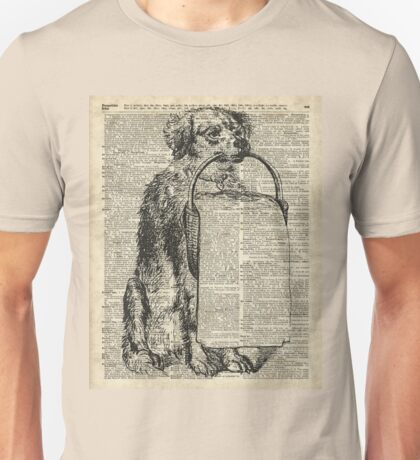 Dog with a Picnic Basket Unisex T-Shirt