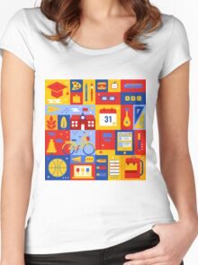 Colorful Education Concept Women's Fitted Scoop T-Shirt