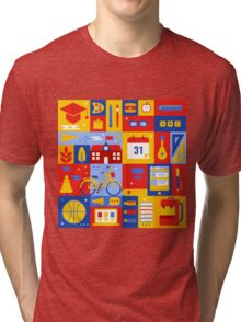 Colorful Education Concept Tri-blend T-Shirt