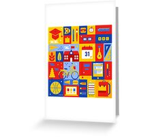 Colorful Education Concept Greeting Card