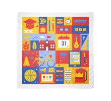 Colorful Education Concept Scarf