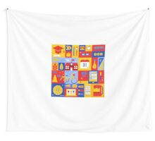 Colorful Education Concept Wall Tapestry