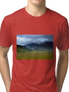 Dark clouds over Castelluccio  Tri-blend T-Shirt