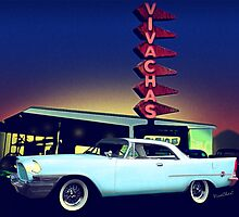 58 Chrysler 300 in Blue Dust at VivaChas Clubhouse by ChasSinklier