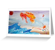 le fishy kite  Greeting Card