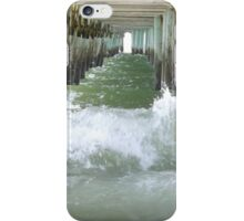 Pier over troubled water iPhone Case/Skin