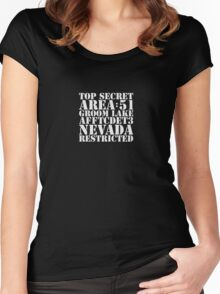 Area 51 - top secret Women's Fitted Scoop T-Shirt