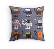 Stupid Halloween Characters Throw Pillow