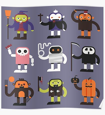 Stupid Halloween Characters Poster