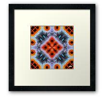 Electric Orange Framed Print