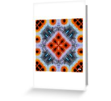 Electric Orange Greeting Card