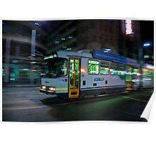 late night Tram Poster