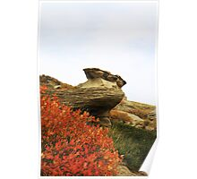 Autumn at Writing-on-Stone Poster