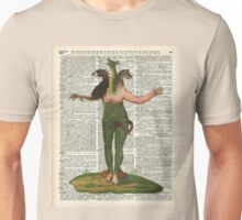Hybrid Monstrum over Old Encyclopedia Book Page Unisex T-Shirt