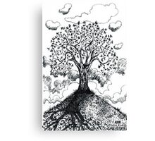 'Tree on a Hill' Canvas Print