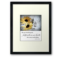 Footprints on our Hearts Framed Print