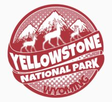 Yellowstone National Park Wyoming red logo by artisticattitud