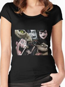 the characters of hotel transylvania 2 Women's Fitted Scoop T-Shirt