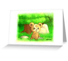 #216 Teddiursa Greeting Card