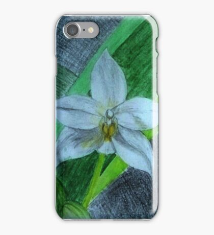 White Terrestrial Orchids iPhone Case/Skin