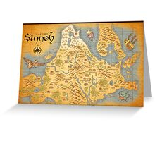 Sinnoh Map Greeting Card