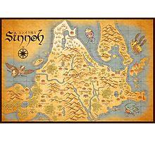 Sinnoh Map Photographic Print