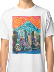 Seattle Skyline by David Johansson Classic T-Shirt