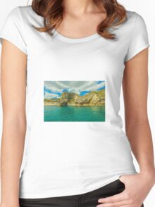 Ocean Women's Fitted Scoop T-Shirt