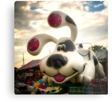Doggy Carnival Ride Metal Print