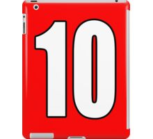 10, Football, Soccer, Team, Number, Red, Devils iPad Case/Skin