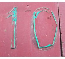 10, NUMBER 10, Ten, Tenth, turquoise, pink, Photographic Print