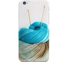 Wool and Knitting Needles iPhone Case/Skin
