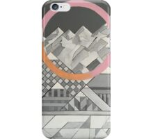 Geometry's Mountain - inspired by mountain landscapes, geometry, and cycle of life. iPhone Case/Skin