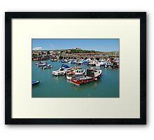Folkestone harbour, Kent Framed Print