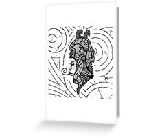 Alien woman Greeting Card