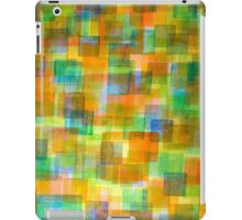 Rug Out Of Orange, Blue And Green Squares iPad Case/Skin