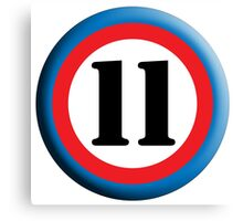 11, Eleven, Eleventh, ROUNDEL, TEAM SPORTS, NUMBER 11, Competition Canvas Print