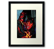 Devil vampires in the city Framed Print